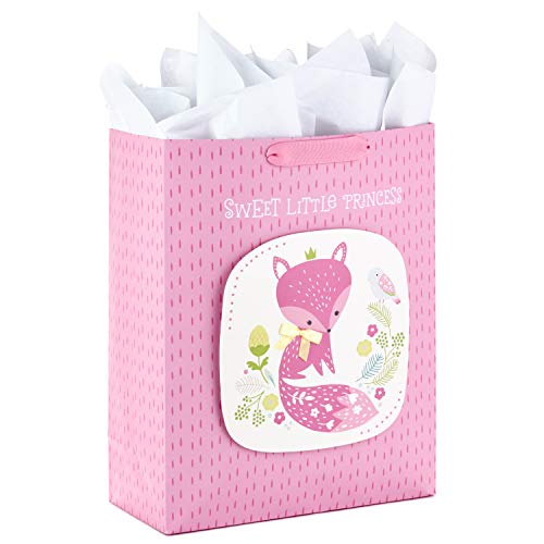(Hallmark 5WDB1127 Extra Large Tissue Paper (Sweet Little Princess Fox) Gift Bag, X, Purple Floral)