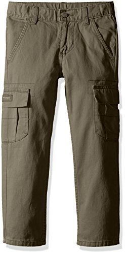 Wrangler Big Boys' Authentics Classic Cargo Pant, Olive, 12 - Kids Cargo Pants