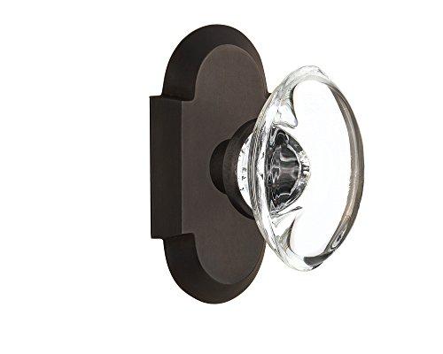 locking glass door knobs bronze - 9