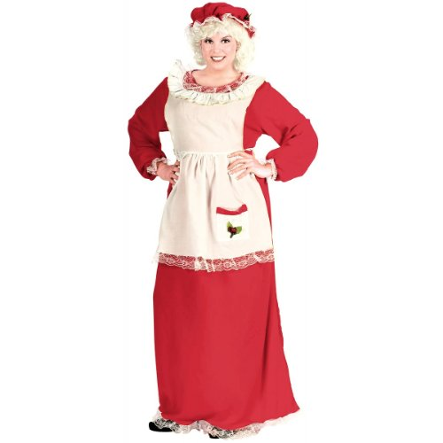 Mrs. Claus Costume - Plus Size 1X/2X - Dress Size 16-20 -