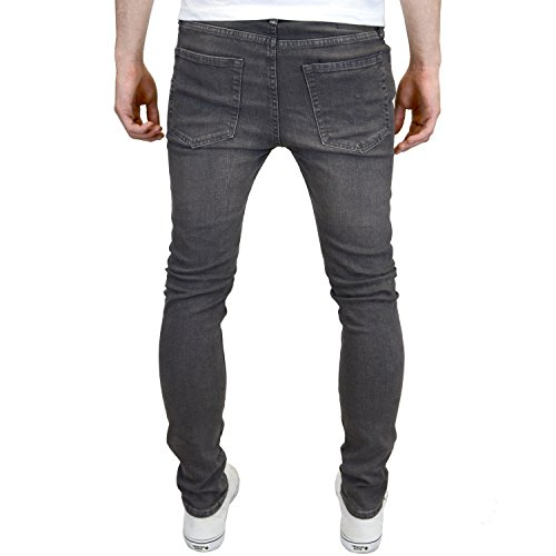 Jack Uomo amp; Skinny Grigio Denim Liam 007 Jeans Grey Jones Original rwrEdqPZn