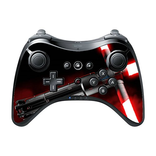 Wii Blade Light Red (Red Blade Wii U Pro Controller Vinyl Decal Sticker Skin by Demon Decal)