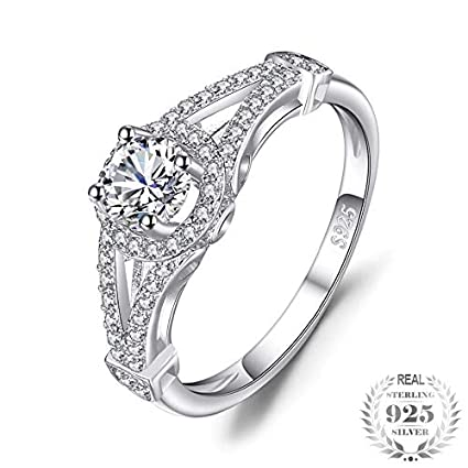 Amazon Nattaphol Gorgeous Bridal Anniversary Ring 925 Sterling