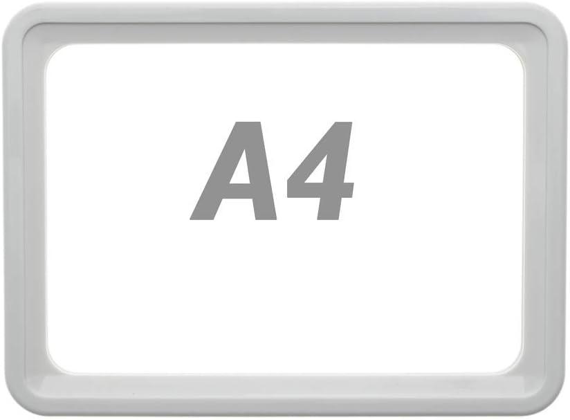 PrimeMatik - Marco para letreros y carteles A4 306x215mm blanco para rotulación