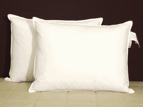 Phoenix Down Overstuffed White Goose Down and Feather Double Covered King Pillow Set (2 Pillows) (Set Phoenix)