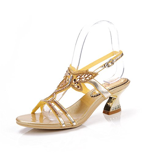 Unicrystal , Damen Sandalen golden 36