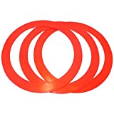 Juggling Rings Set of 3 Professional Style (Red)