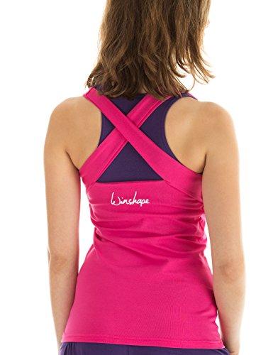 Winshape WVR25 Haut à bretelles croisées dans le dos pour femme Coupe étroite Pour loisirs et sport XS Rose - rose bonbon