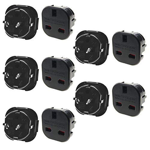 Ex-Pro 5x Pack of UK to USA US America Canada Tourist Travel Plug Power Mains Adaptor – Black
