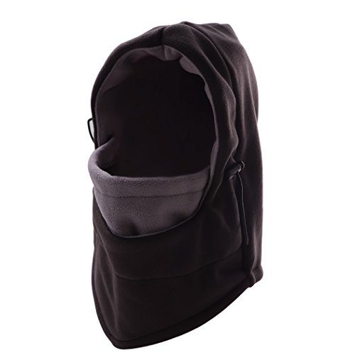 JTTVO Tactical Balaclava Hood Thermal Veil Face Mask HatGrayBlack) by JTTVO