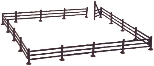 ATLAS MODEL 777 Rustic Fence & Gate Kit HO