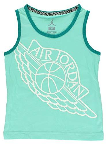 Jordan Baby Girls Wings Tank Top Aqua Blue 4T -