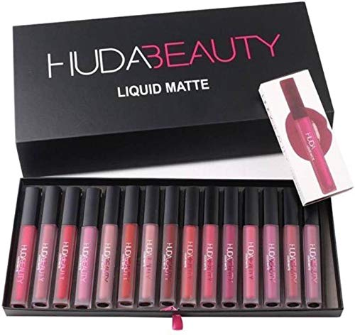 Huda Beauty Matte Liquid Lipstick Collection Set Of 16