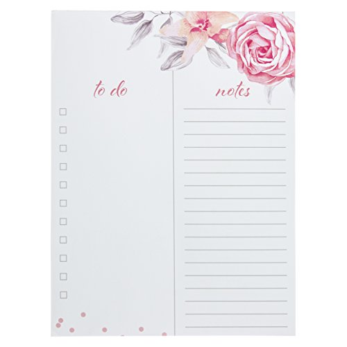 Graphique Vintage Roses Large Notepad, Beautiful Floral Notepad with 150 Tear-Off Sheets and To-Do List and Ruled Notes Sections, Perfect for Kitchen Counters, Nightstands, Desks, and More, 6 x 8