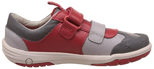 Clarks JetSky Buzz Boys Casual infantil instructores Red Combi