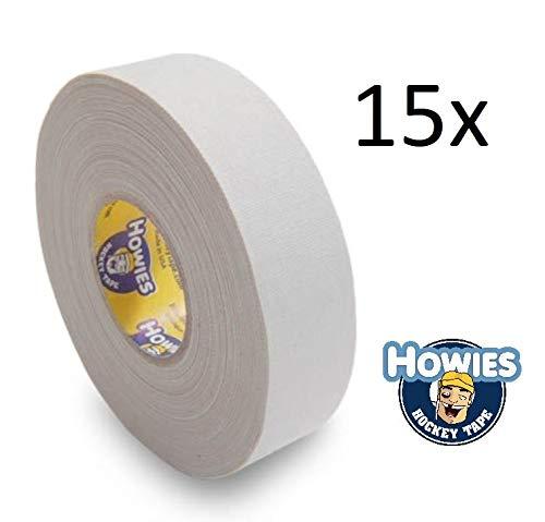 Howies 15x Schlägertape Profi Cloth Hockey Tape weiß 25mm f. Eishockeytape