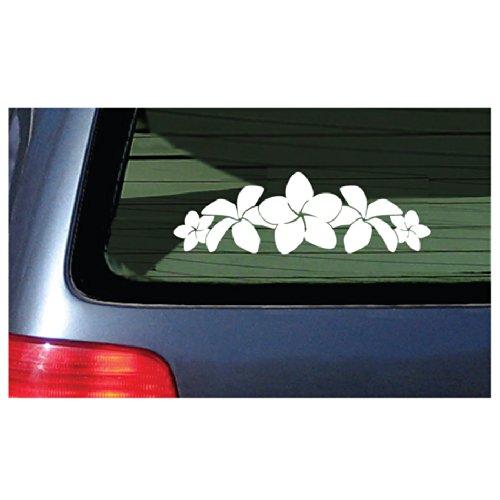 Plumeria Band Flower Lei Sticker - White Decal Hawaii