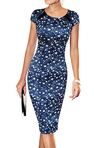 Caat Wear to Star Black Striped Print Sheath Women's Work Dress Summer Casual Aycox qTcxCHqZ
