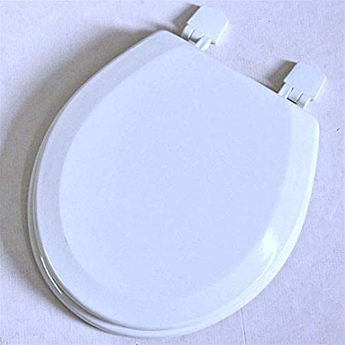 Andou Nk 便座ユニバーサル便座スローダウンミュート厚みのトップは、Uシェイプトイレのための簡単なクリーントイレふたをマウントホワイト-35.5 * 44センチメートル