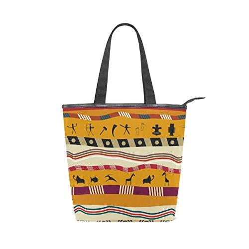 Tote Womens African Bag Shoulder Tribal Canvas Handbag MyDaily Stripe xRHUqwxT