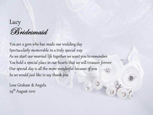 bridesmaid thank you message