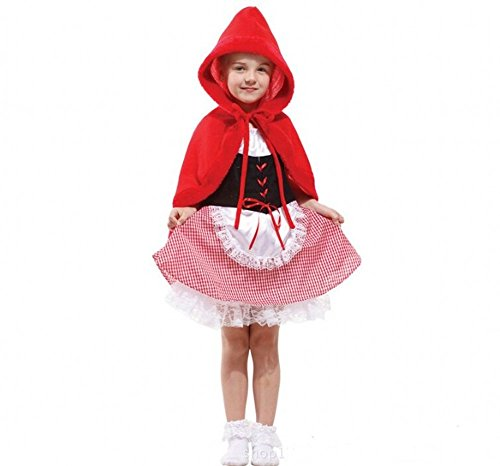Fanala Girls Little Red Riding Hood Costume Cosplay for Halloween (Small) (Little Red Riding Hood Cosplay)