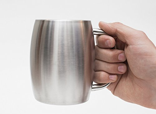 Stainless Steel Coffee Beer Tea Mugs - 14 Oz Double Walled Insulated - Set of 2 Avito - Best Value - BPA Free Healthy Choice - Shatterproof by Avito (Image #5)