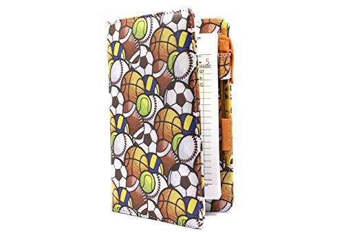 Server Book Brand Sports Balls Server Organizer | 5x8 Baseball Football Soccer Tennis Volleyball Basketball Waitress Wallet | Order Pad Holder
