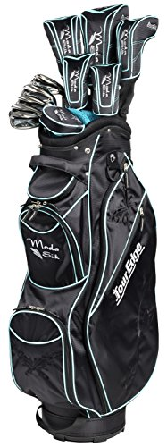 20 Tour Iron Set - Tour Edge SHSRGL11.B Women's Moda Silk Box Set, Right Hand, Graphite, Full Set, Black/Sea Green