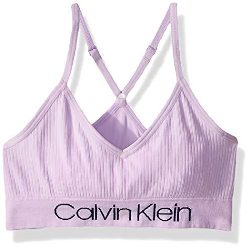 Calvin Klein Girls' Little Seamless Wirefree Comfort Bralette Bra, Lilac Purple, X-Large (Boxer Bras)