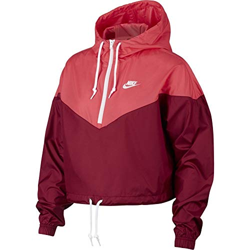 Nike Womens Heritage Windrunner Track Jacket Team Red/Ember Glow/White AR2511-677 Size X-Small by Nike (Image #2)