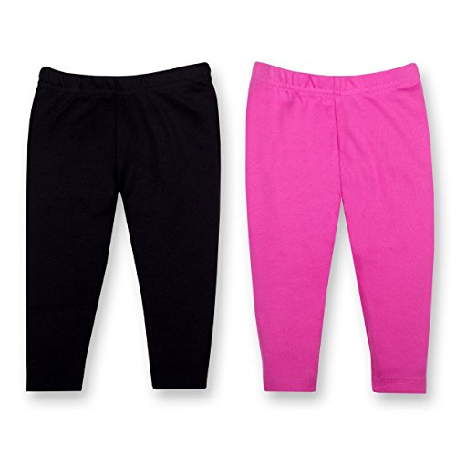 LAMAZE Organic Baby Baby Girls Organic 2 Pack Pants, Black, NB]()