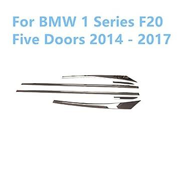 Cuerpo de acero inoxidable puerta lateral Moldura Embellecedor de pantalla, 6 piezas para accesorios de coche: Amazon.es: Coche y moto