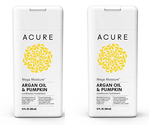 Acure Mega Moisture Conditioner - Argan Oil & Pumpkin, 12 Fluid Ounces PACK/2