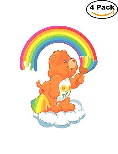 care-bears-friend-rainbow-kids-cartoon-car-bumper-sticker-4x5