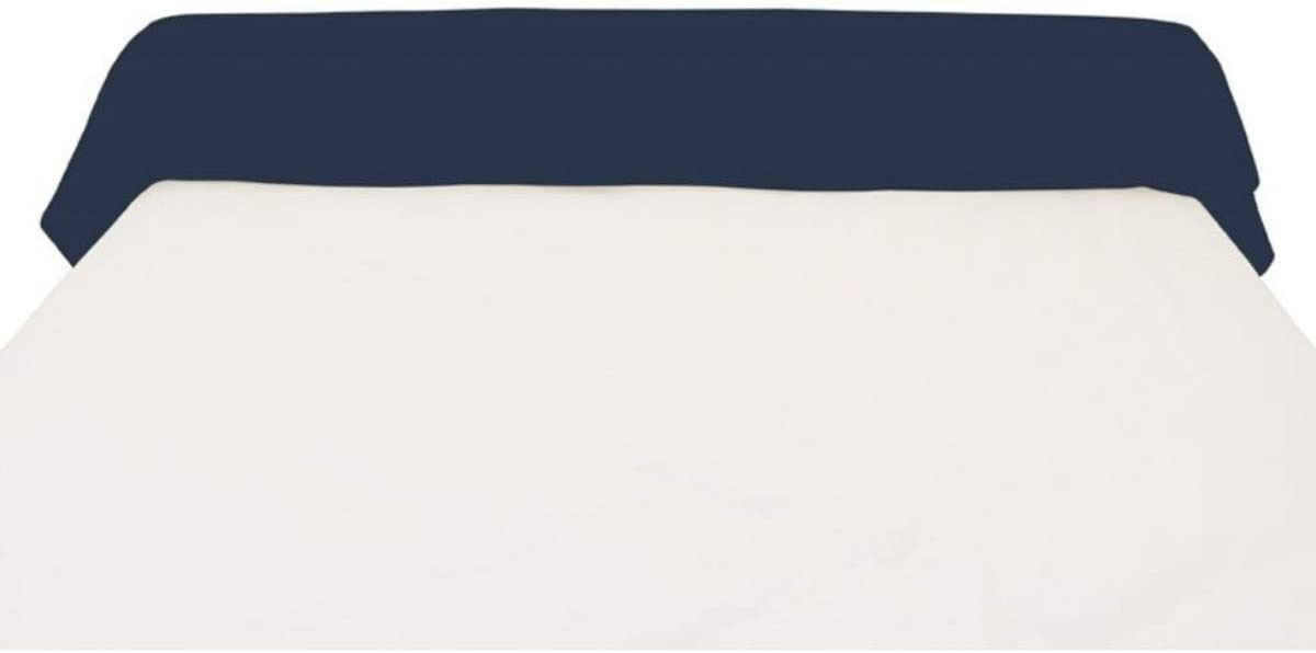 Soleil docre Bezug f/ür Nackenrolle Baumwolle Uni Marineblau