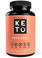 Perfect Keto Antarctic Krill Oil with MCT Oil | Highly Potent Omega-3 Supplement | Keto Diet Friendly | 90 Softgels | No Fishy Aftertaste