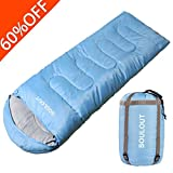 sleeping bag - Envelope Sleeping Bag - 4 Seasons Warm Cold Weather Lightweight, Portable, Waterproof With Compression Sack for Adults & Kids - Indoor & Outdoor Activities: Traveling, Camping, Backpacking, Hiking