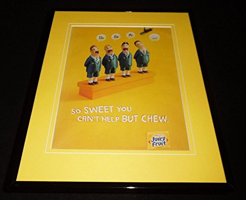 2016 Wrigley's Juicy Fruit Gum 11x14 Framed ORIGINAL Advertisement