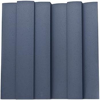 JOCAVI Acoustic Panels WAV/I060 ATP WAVYFUSER/Inverted Acoustic Diffuser Panel, Grey - 2 Units