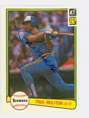 Molitor Autograph Paul (Paul Molitor AUTOGRAPH 1982 Donruss #78 Milwaukee Brewers)