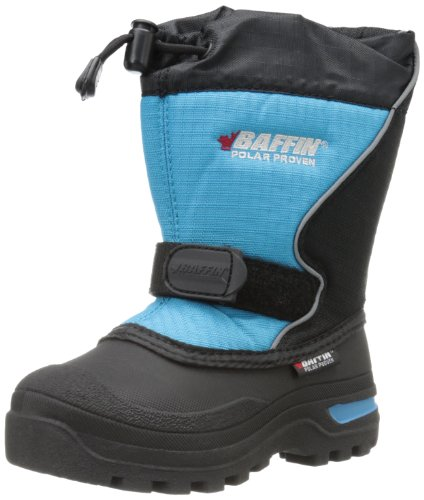 Baffin Mustang Snow Boot (Little Kid) - Black/Electric Bl...