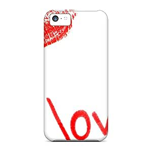 Hot Tpu Cover Case For Iphone/ 5c Case Cover Skin - I Kiss