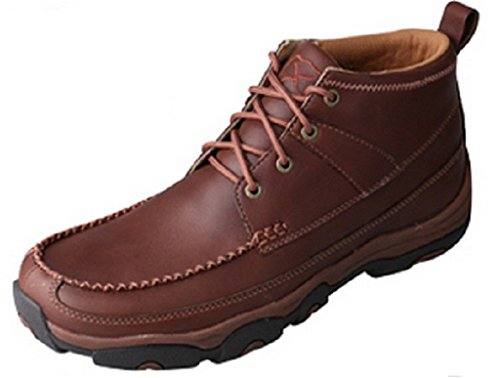 Image of Twisted X Men's Hiker Shoes Brown - Leather/Genuine Super Slab Rubber Material Footwear