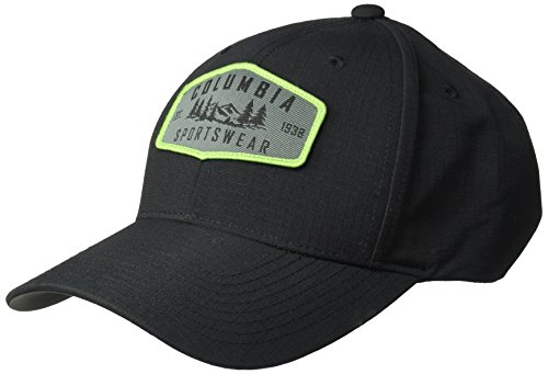 Columbia Baseball Hat (Columbia Men's Cascades Explorer Ball Cap, Black Hex Patch, O/S)
