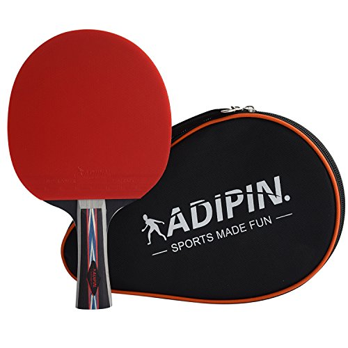 ADIPIN Superior Table Tennis Racket | Ping Pong Paddle | Wooden Blade with Rubber by ADIPIN