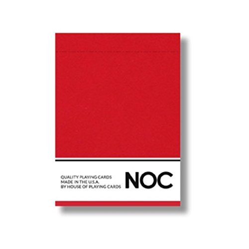 NOC 2017 Playing Cards (RED) Limited Edition Air-Cushion Finish Deck by USPCC