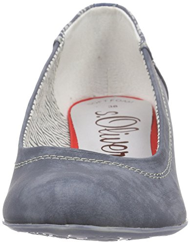 s.Oliver Damen 22308 Pumps Blau (DENIM 802)
