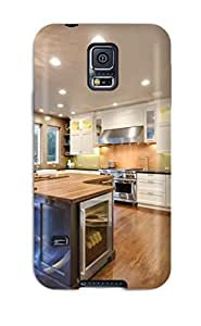 Forever Collectibles Eclectic Curved Brown Kitchen Island With Wine Cooler Hard Snap-on Galaxy S5 Case wangjiang maoyi