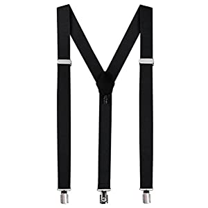 Luther Pike Fashion Accessories Suspenders for Men - Pant Clip Style Braces Clothes Accessory with Elastic, Y Back Design